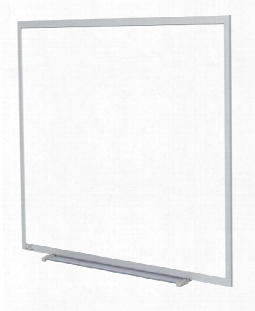 4' X 4' Aluminum Frame Porcelain Magnetic Whiteboard By Ghent