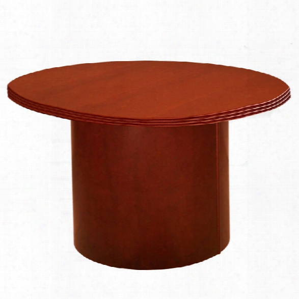 """42"""" Round Wood Veneer Conference Table By Rudnick"""