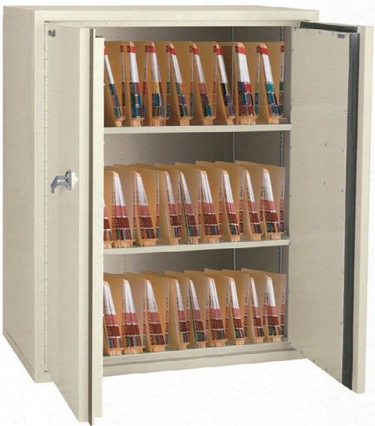 "44"" High Fireproof Storage Cabinet With 3 Fixed Shelves By Fireking"