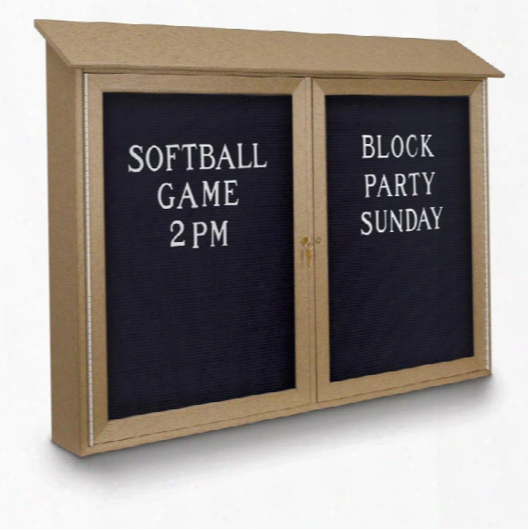 "45"" X 30"" Letterboard Double Door Message Center By United Visual"