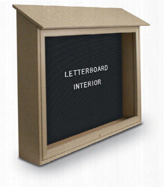 """45"""" X 30"""" Letterboard Top Hinged Message Center By United Visual"""