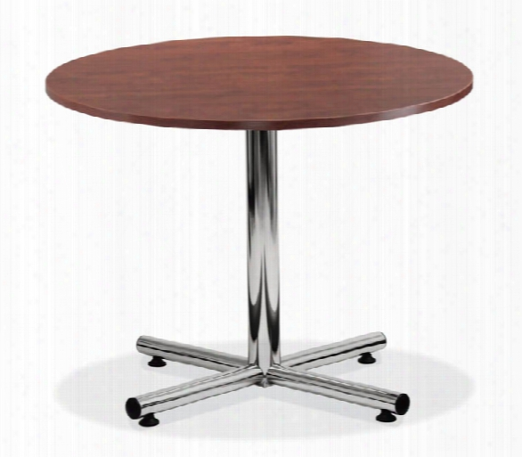 "48"" Round Cafeteria Table With Chrome Base By Office Source"