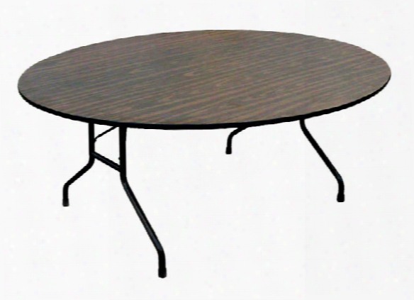 "48"" Round Melamine Top Folding Table By Correll"