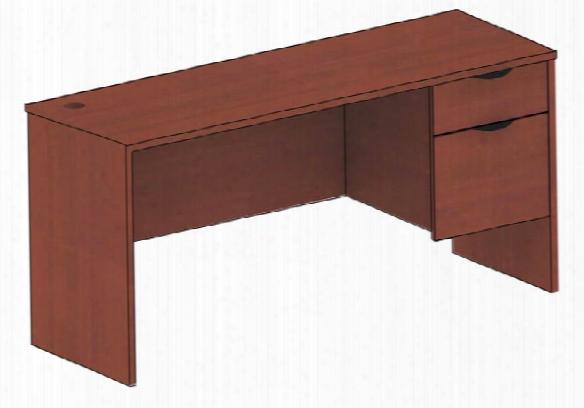 "48"" X 24"" Single Pedestal Desk By Candex"