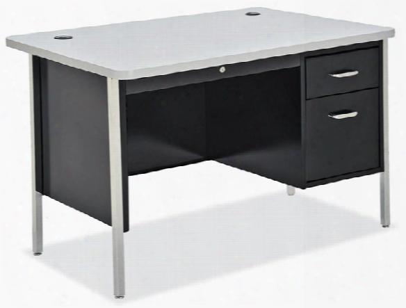 """48"""" X  30"""" Steel Teachers Desk By Office Source"""