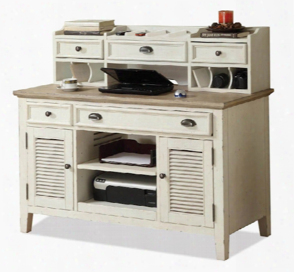 """50"""" Credenza Desk With Hutch By Riverside"""