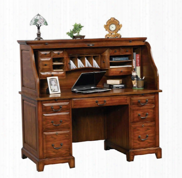 """57""""w X 29""""d X 53""""h Roll Top Desk By Wilshire Furniture"""