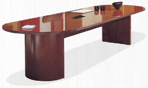 6' Wood Veneer Racetrack Conference Table By Rudnick