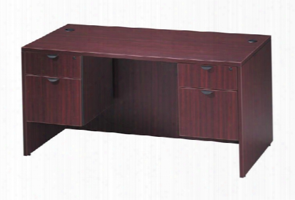 "60"" Double Pedestal Desk By Office Source"