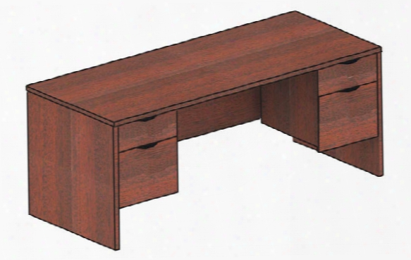"60"" X 30"" Double Pedestal Desk By Candex"