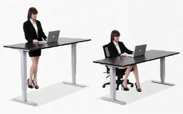 """60"""" X 30"""" Electric Adjustable Height Table By Office Source"""