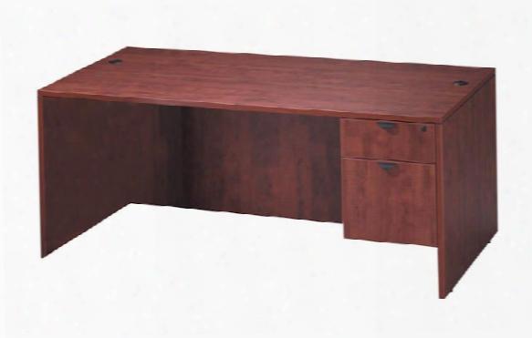 """60"""" X 30"""" Single Pedestal Desk By Office Source"""