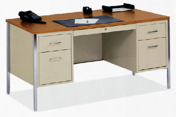 "60""  X 30"" Steel Desk By Office Source"