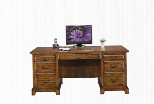 "66""w X 27""d X 30.5""h Flat Top Desk By Wilshire Furniture"