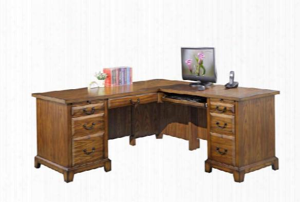 "66""w X 69""d X 30""h L-shaped Desk By Wilshire Furniture"