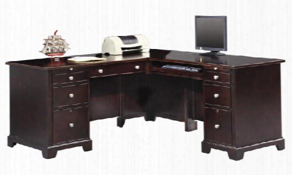 "66""w X 69""d X 30""h Wood L Shaped Desk By Wilshire Furniture"