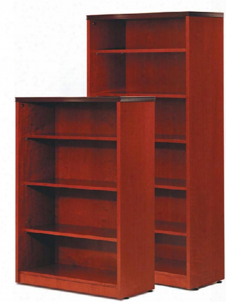 "68"" Wood Veneer Bookcase By Rudnick"