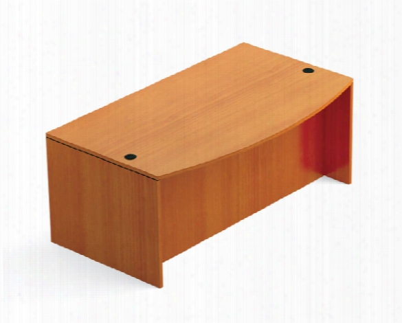 """71"""" X 41"""" Bow Front Desk Shell By Office Source"""