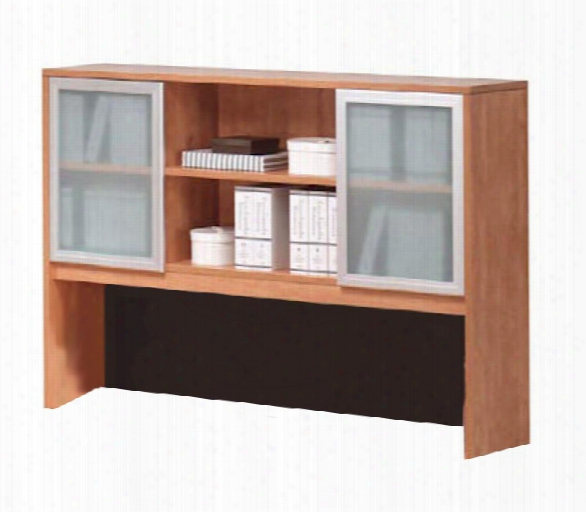 "71""w X 48""h Hutch With Glass Doors By Office Source"
