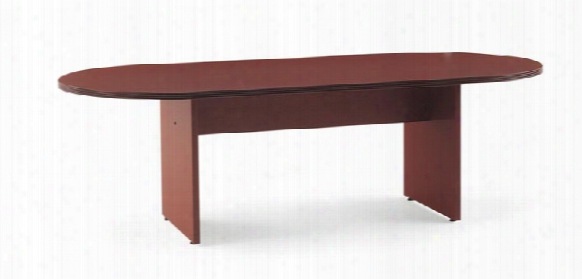 "72"" Wood Veneer Racetrack Conference Table By Rudnick"