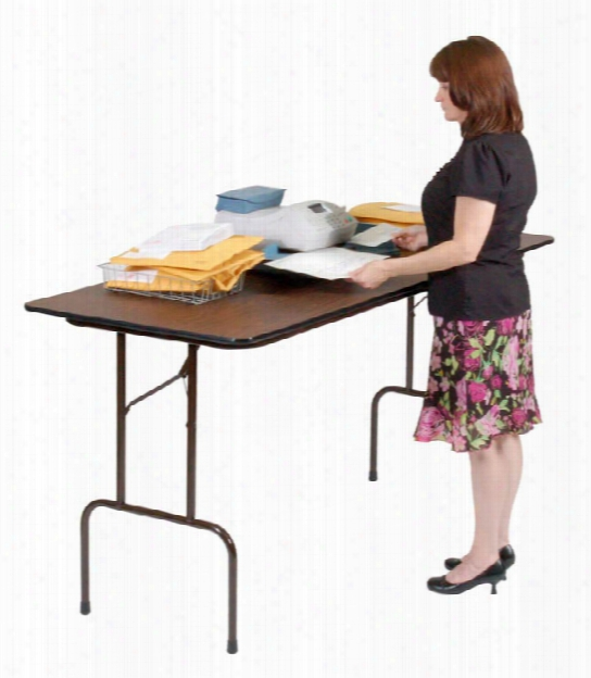 "72"" X 30"" Counter Height High Pressure Folding Table By Correll"