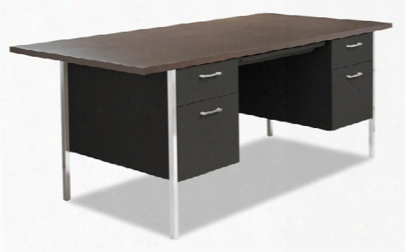 "72"" X 36"" Double Pedestal Steel Desk By Alera"