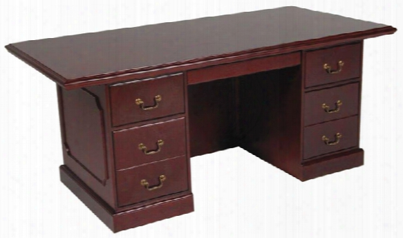 "72"" X 36"" Double Pedstal Veneer Executive Desk By Furniture Design Group"