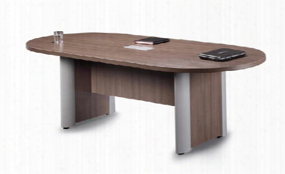 8' Racetrack Conference Table With Aluminum Base By Office Source