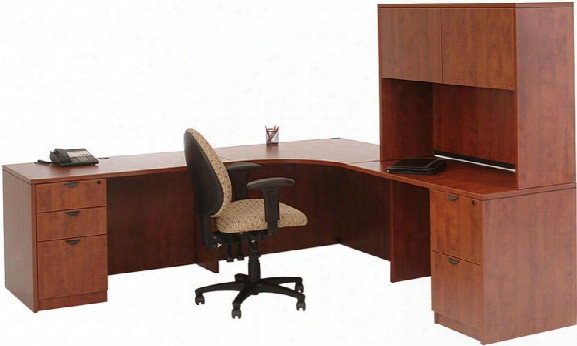 """89"""" X 89"""" Corner Desk With Hutch By Marquis"""