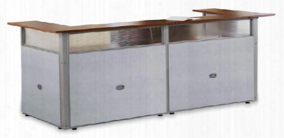 """96"""" X 37"""" U Shped Reception Desk By Ofm"""