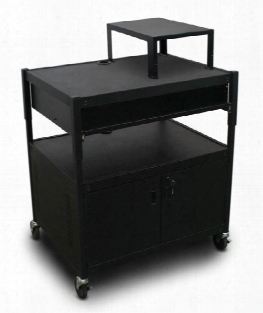 Adjustable Cart With 1 Pull-out Front-shelf, Cabinet, And Expansion Shelf By Marvel