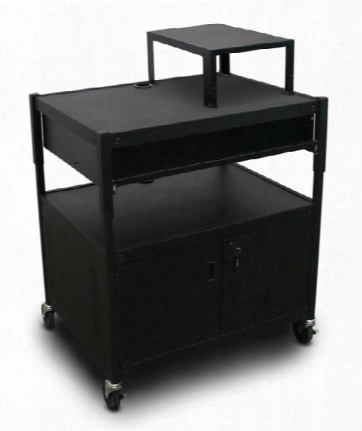 Adjustable Cart With 1 Pull-out Front-shelf, Cabinet, Expansion Shelf, And Electrical By Marvel