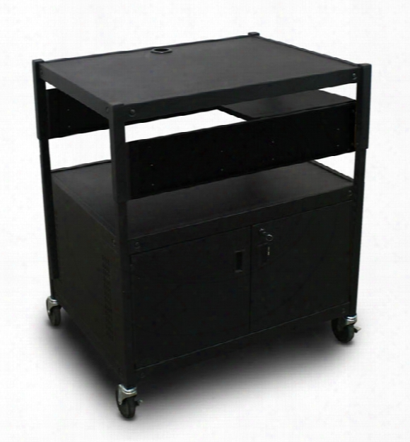 Adjustable Cart With 1 Pull-out Side-shelf, Cabinet, And Electrical By Marvel