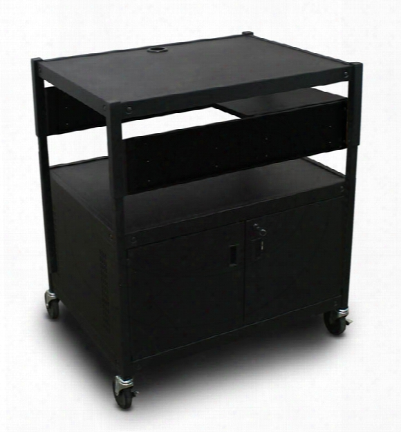 Adjustable Cart With 1 Pull-out Side-shelf, Cabinet By Marvel