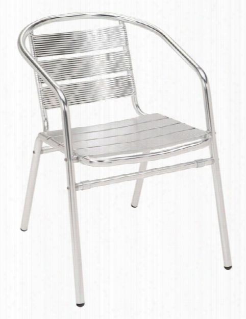 Aluminum Stacking Arm Chair By Kfi Seating