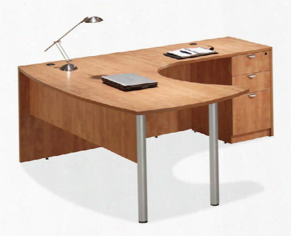 Arc Top L Shaped Desk By Office Source