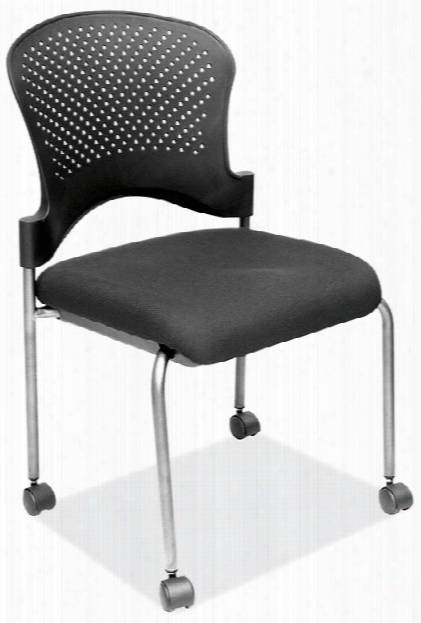 Armless Guest Chair With Casters By Office Source