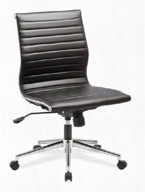 Armless Mid Back Chair With Aluminum Frame By Office Source