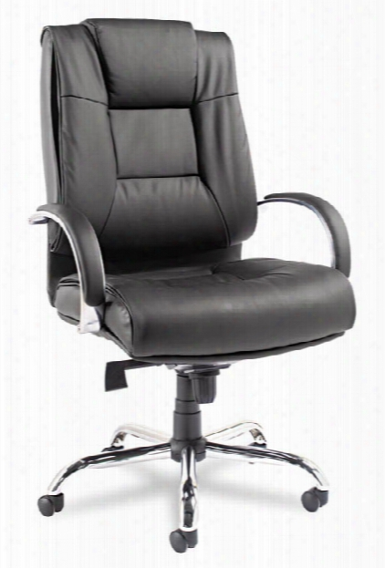 Big & Tall High Back Leather Chair By Alera