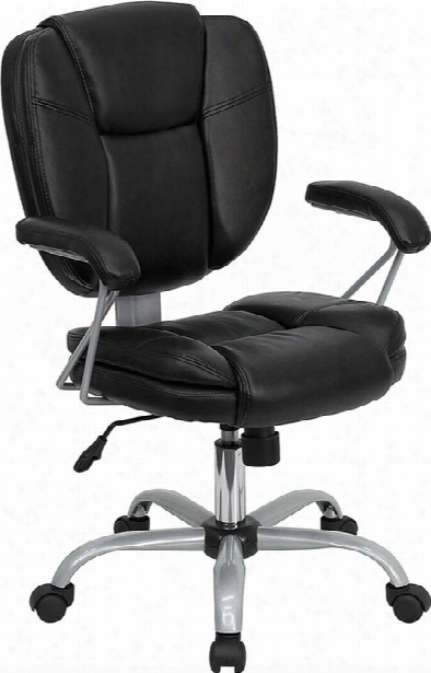 Black Leather Computer Task Chair By Innovations Office Furniture