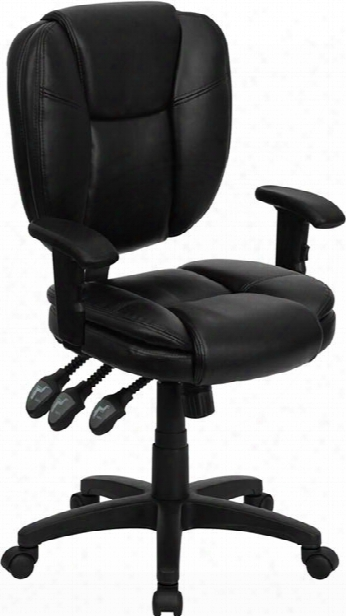 Black Leather Multi Function Task Chair By Innovations Office Furniture