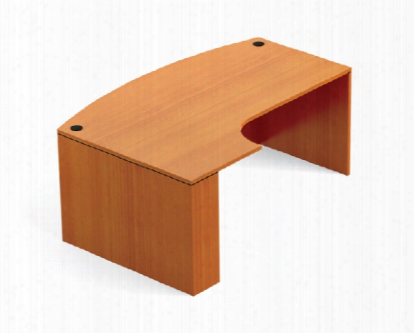 Bow Front Desk Shell With Left Extension By Offfice Source