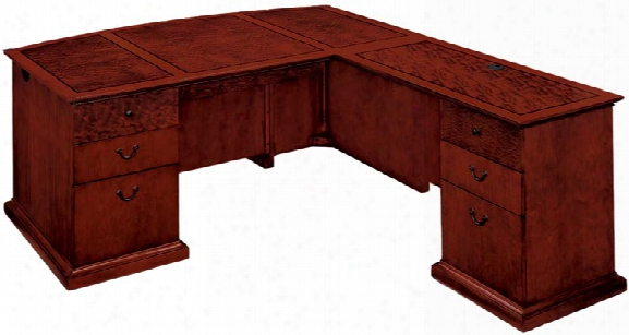 Bow Front Executive L Shaped Desk By Dmi Office Furniture