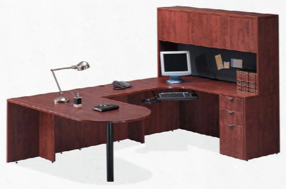 Bullet U Shaped Desk With Hutch By Office Source