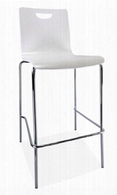 Cafe Height High Back Wood Stool By Office Source