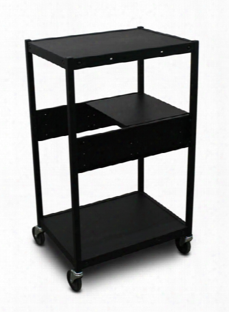 Cart With 1 Pull-out Side-shelf And Electrical By Marvel