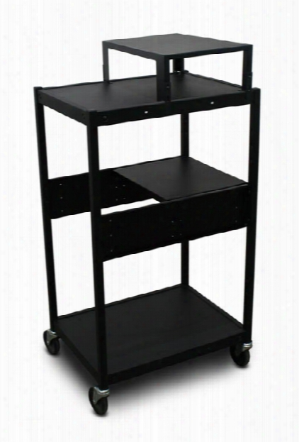 Cart With 1 Pull-out Side-shelf And Expansion Shelf By Marvel