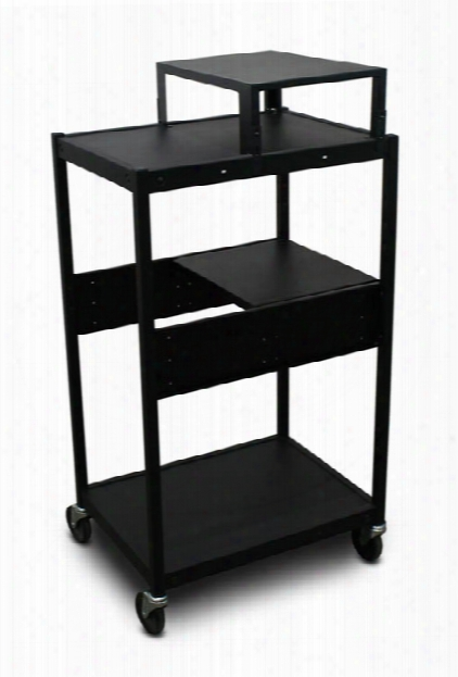 Cart With 1 Pull-out Side-shelf, Expansion Shelf, And Electrical By Marvel
