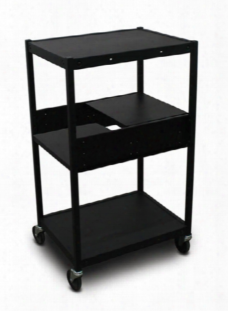 Cart With 2 Pull-out Side-shelves And Electrical By Marvel
