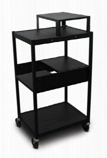 Cart With 2 Pull-out Side-shelves And Expansion Shelf By Marvel